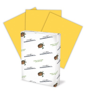 """Hammermill Colors Multipurpose Paper 20 lbs 8.5"""" x 14"""" Goldenrod 640196"""