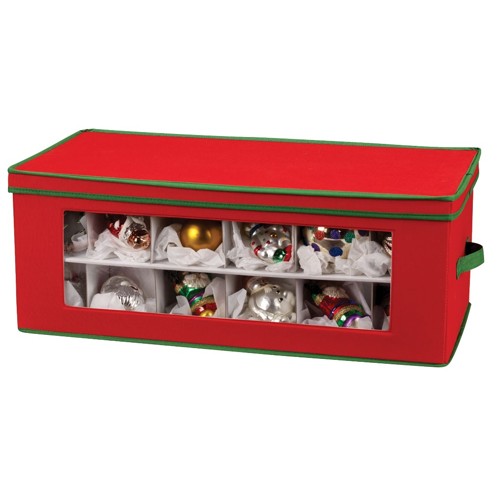 Household Essentials 36 Pc. Holiday Ornament Storage, Red/Green