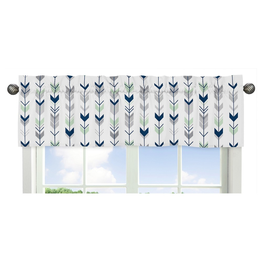 Sweet Jojo Designs Window Valance - Navy & Mint Mod Arrow