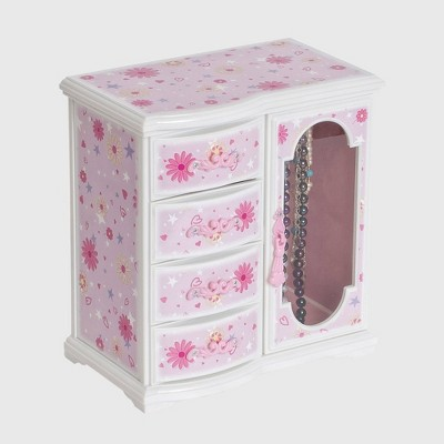 Mele & Co. Dorothy Girls' Glittery Upright Musical Ballerina Jewelry Box - Pink