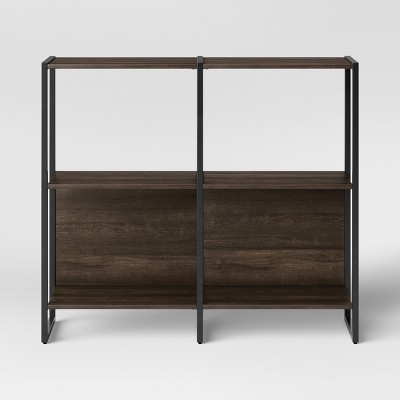 "35"" Paulo 2 Shelf Bookcase Midtone Brown - Project 62™"