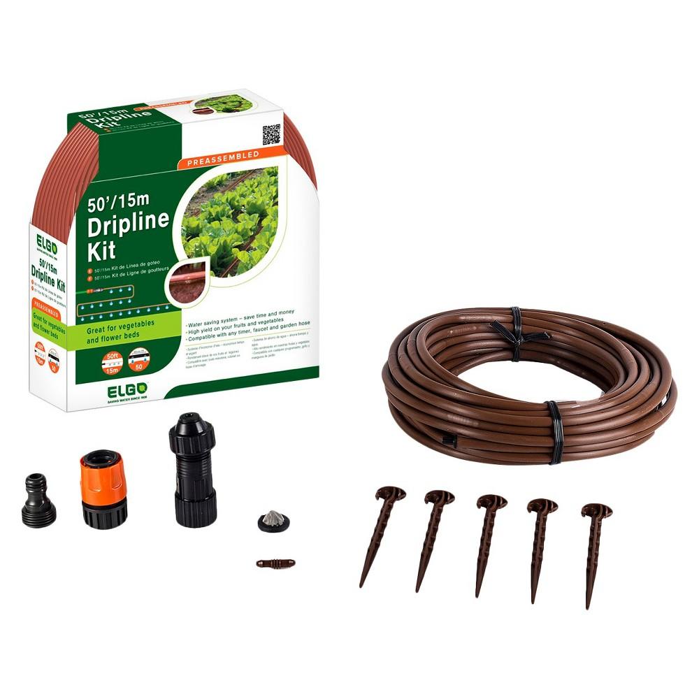 Image of 50' Drip Line Kit - Black - Elgo