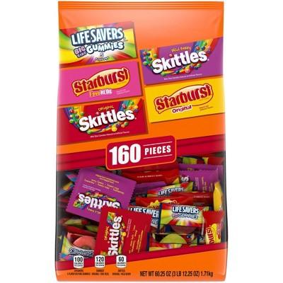 Skittles, Starburst, LifeSavers Halloween Fun Size Candy Variety Pack - 60.25oz/160ct