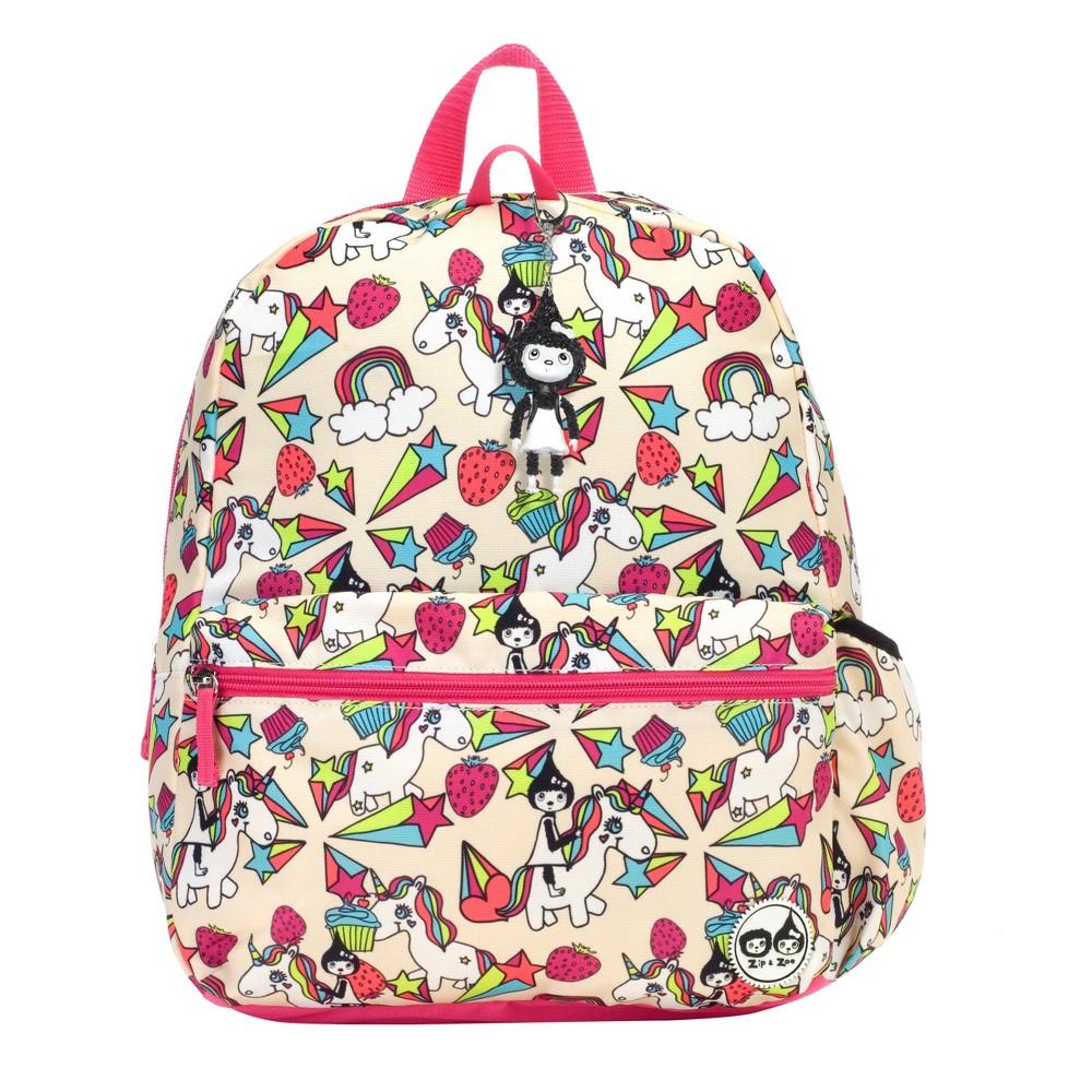 "Image of ""Zip & Zoe Junior 15"""" Kids' Backpack - Unicorn, Kids Unisex, Size: Small, White"""