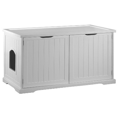 Merry Products Cat Washroom Bench - White