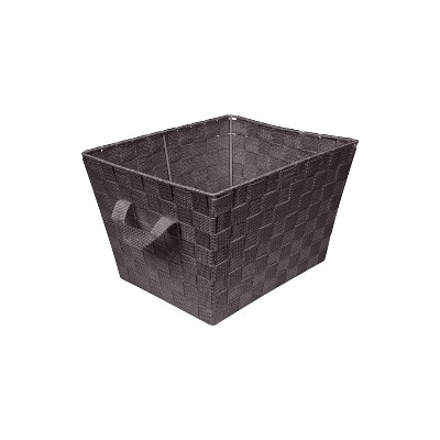 "Simplify Small 10"" Woven Storage Bin Brown"