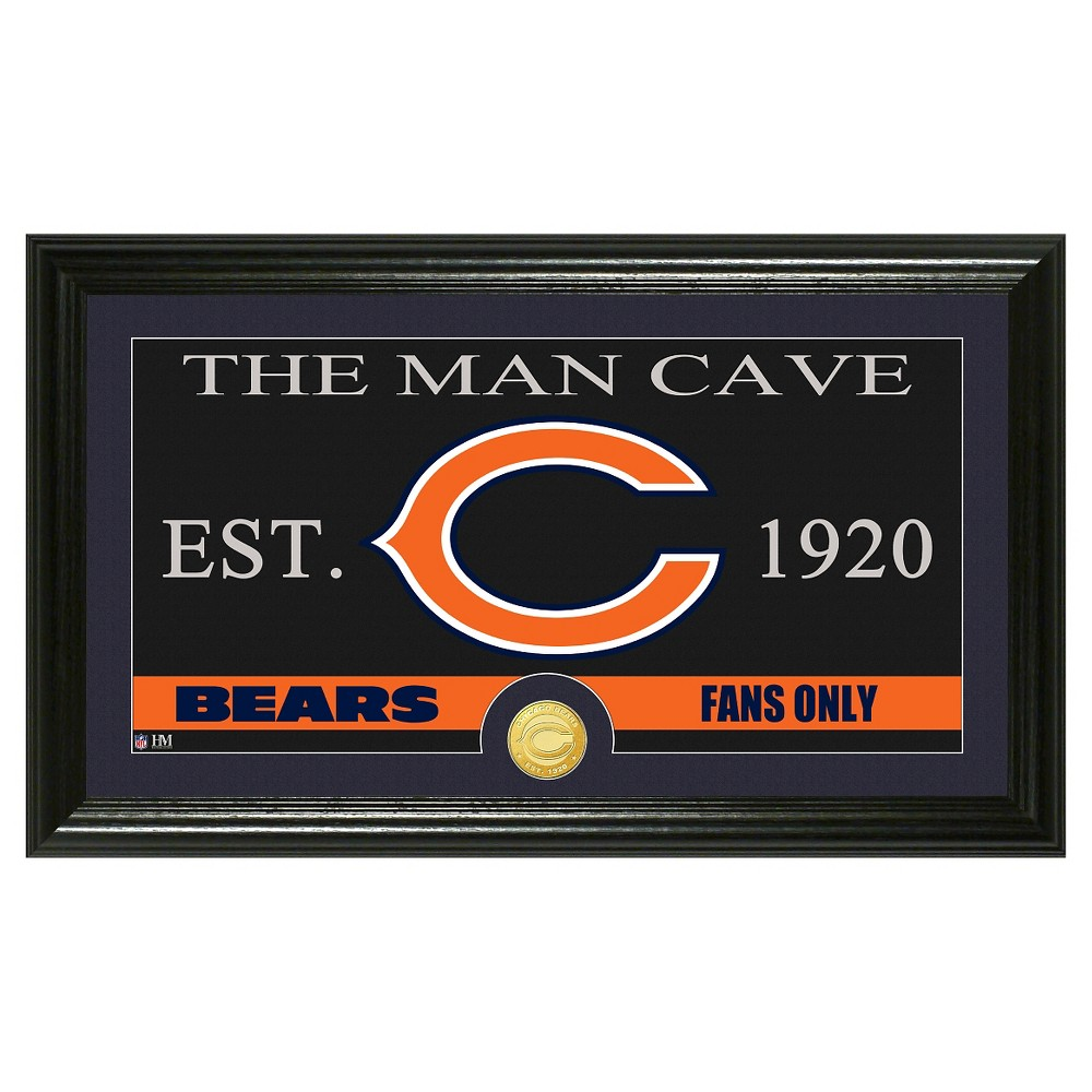 The Highland Mint NFL Man Cave Framed Wall Poster Print Chicago Bears