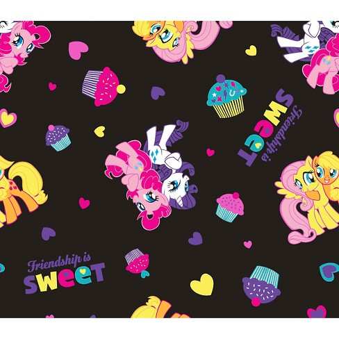 "My Little Pony Friendship Is Sweet, Black, 100% Cotton, 43/44"" Width, Fabric by the Yard - image 1 of 1"