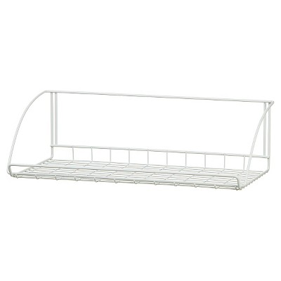 ClosetMaid 24  Wall-Mounted Wire Utility Shelf - White
