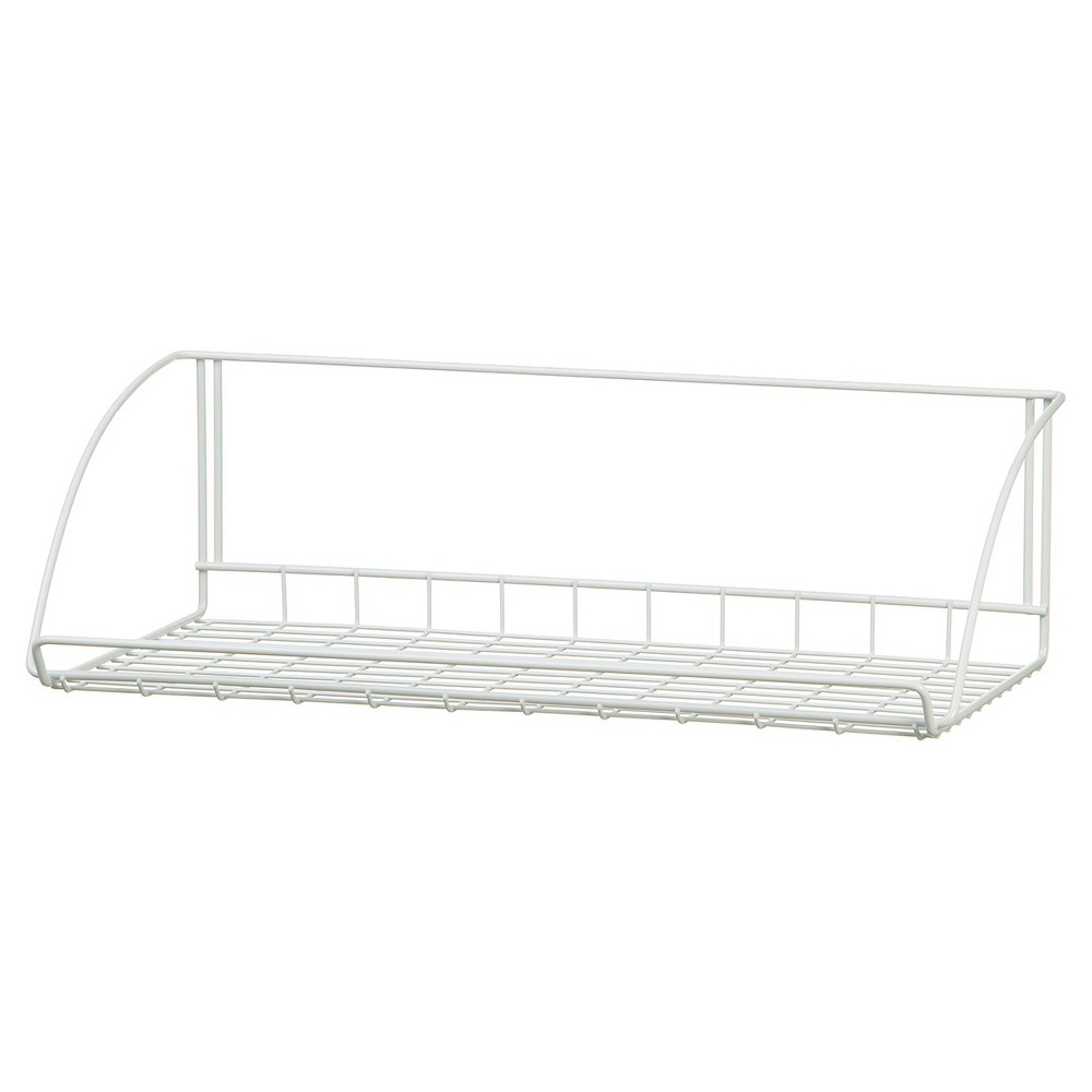"Image of ""ClosetMaid 24"""" Wall-Mounted Wire Utility Shelf - White"""