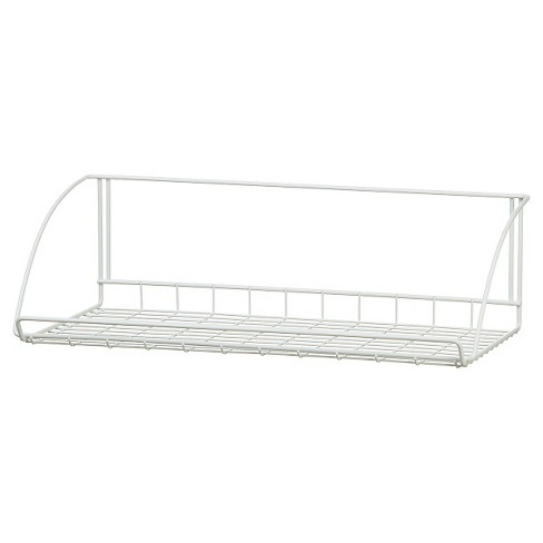 "ClosetMaid 24"" Wall-Mounted Wire Utility Shelf White - image 1 of 3"