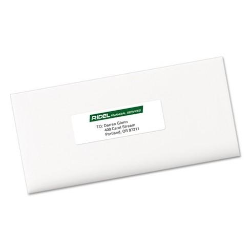 avery 08162 easy peel inkjet address labels 1 1 3 x 4 white 350