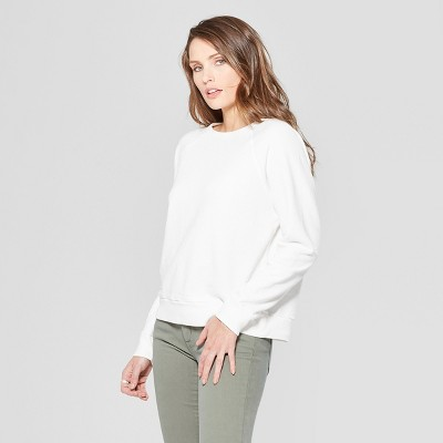 Women's Crew Neck Sweatshirt   Universal Thread White M by Universal Thread White M