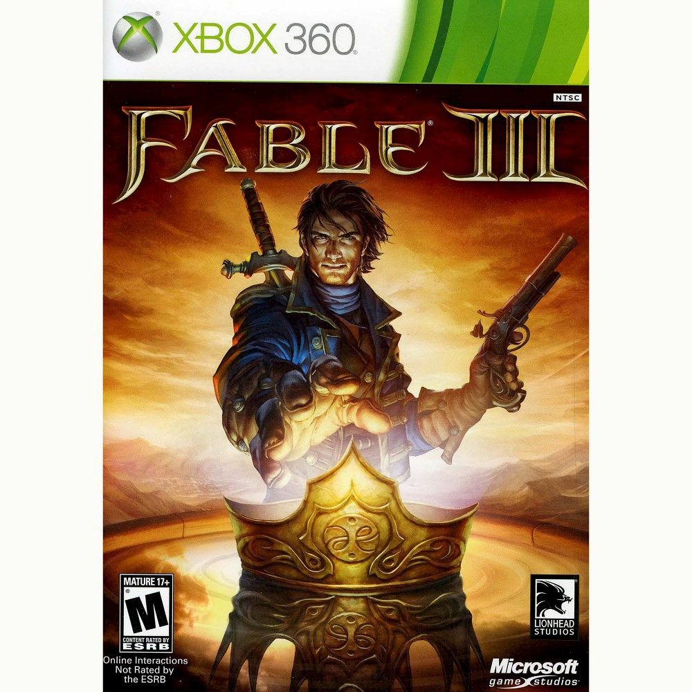 Fable Iii Pre-Owned Xbox 360 Forge your own destiny in the land of Albion in Fable Iii (Xbox 360) - Microsoft. The game works for Xbox 360 consoles. The pre-owned video game is in like-new condition and is recommended for ages 17 and older.
