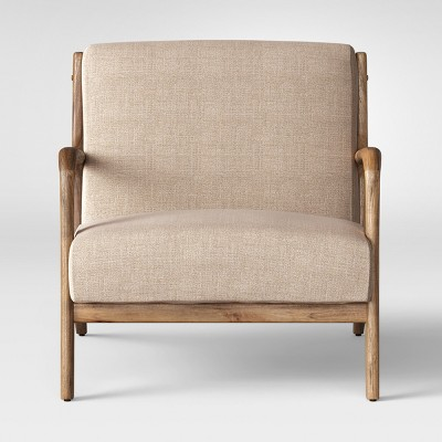 Esters Wood Arm Chair - Light Beige - Project 62™