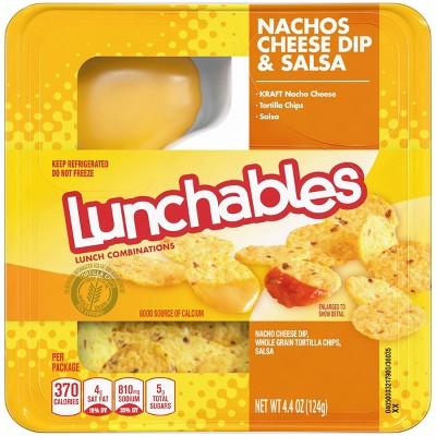 Oscar Mayer Vegetarian Lunchables Nachos Cheese Dip & Salsa - 4.4oz