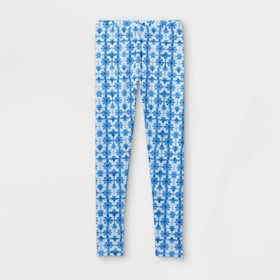 Girls' Tie-Dye Leggings - Cat & Jack™ Blue