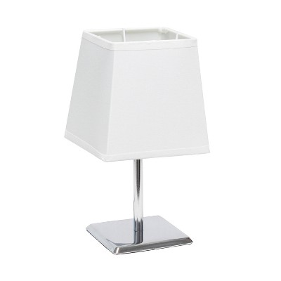 Mini Table Lamp with Squared Empire Fabric Shade White - Simple Designs