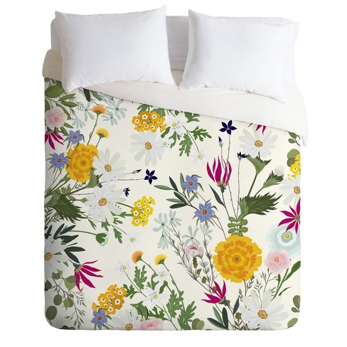 Iveta Abolina Bretta Duvet Cover Set Yellow - Deny Designs - image 1 of 2