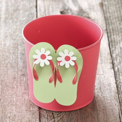 Lakeside Flip Flop Gardening Planter - Coastal Style Landscaping Accent