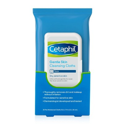 Cetaphil Gentle Skin Cleansing Cloths Unscented - 25ct