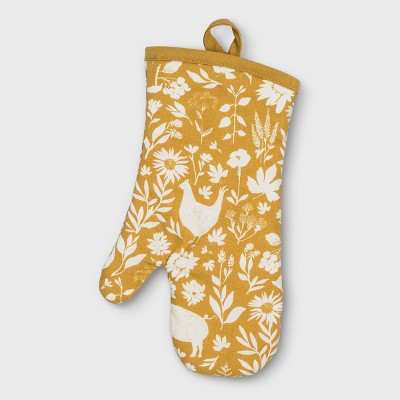 Signature Print Oven Mitt Gold - Threshold™