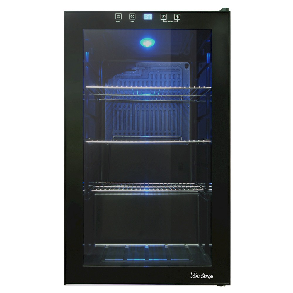 Vinotemp Touch Screen Beverage Cooler – Black VT-BC34 TS 50026806