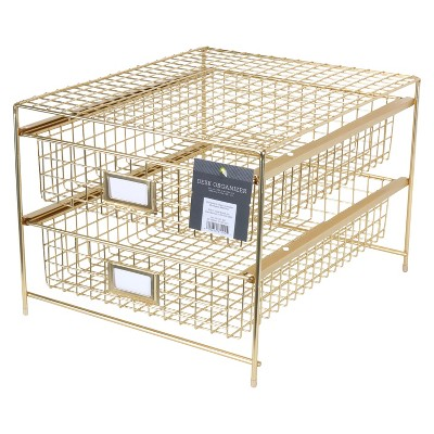 desktop storage drawer set gold threshold target rh target com target mesh desk organizer