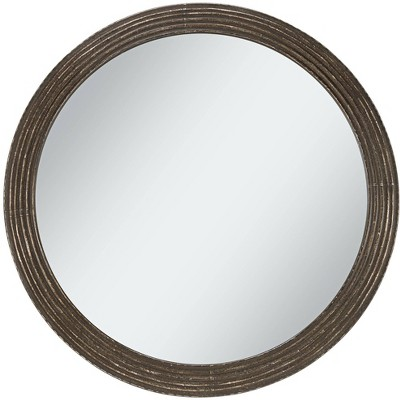 "Uttermost Quentin Black 34"" Round Metal Framed Wall Mirror"