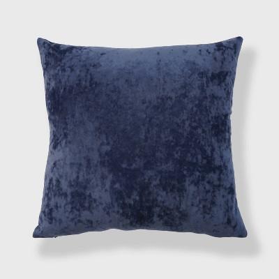 "20""x20"" Oversize Soft Crushed Velvet Square Throw Pillow Navy - freshmint"