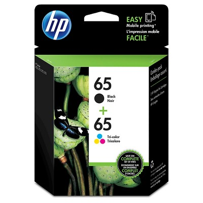 HP 65 Color Combo Pack Ink - Black ( T0A36AN#14)