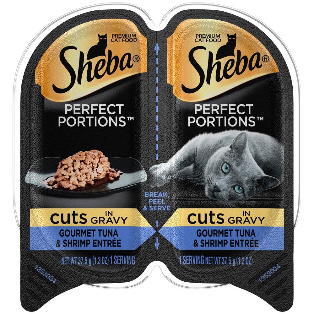 Sheba Perfect Portions - Tuna & Shrimp Cuts - Wet Cat Food - 2.6oz