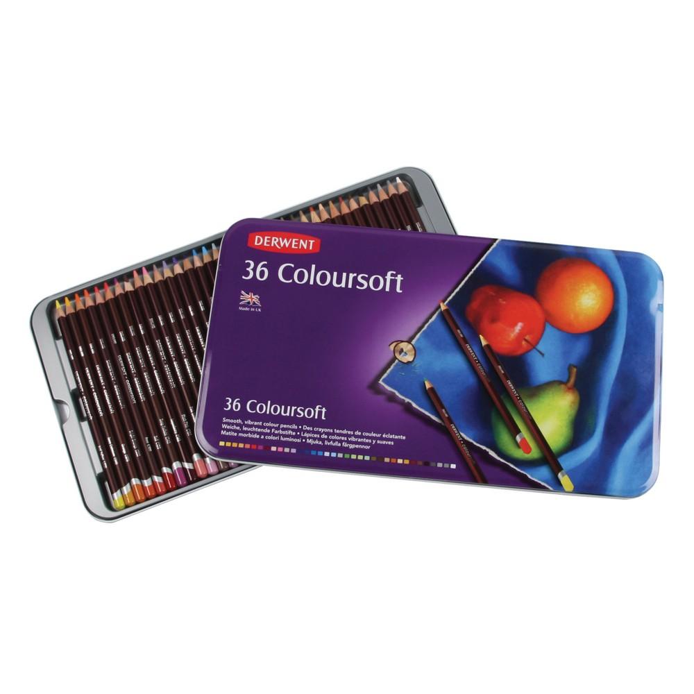 Colored Pencil Set - Derwent Coloursoft 36ct, Multicolored