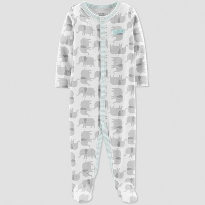 Baby's Elephant Interlock Sleep 'N Play - Just One You® made by carter's Gray Newborn