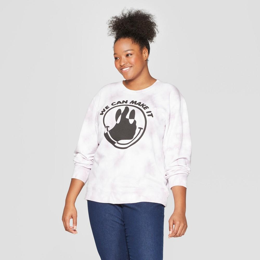 Women's Plus Size We Can Make It Sweatshirt - Mighty Fine (Juniors') - Gray 1X, White
