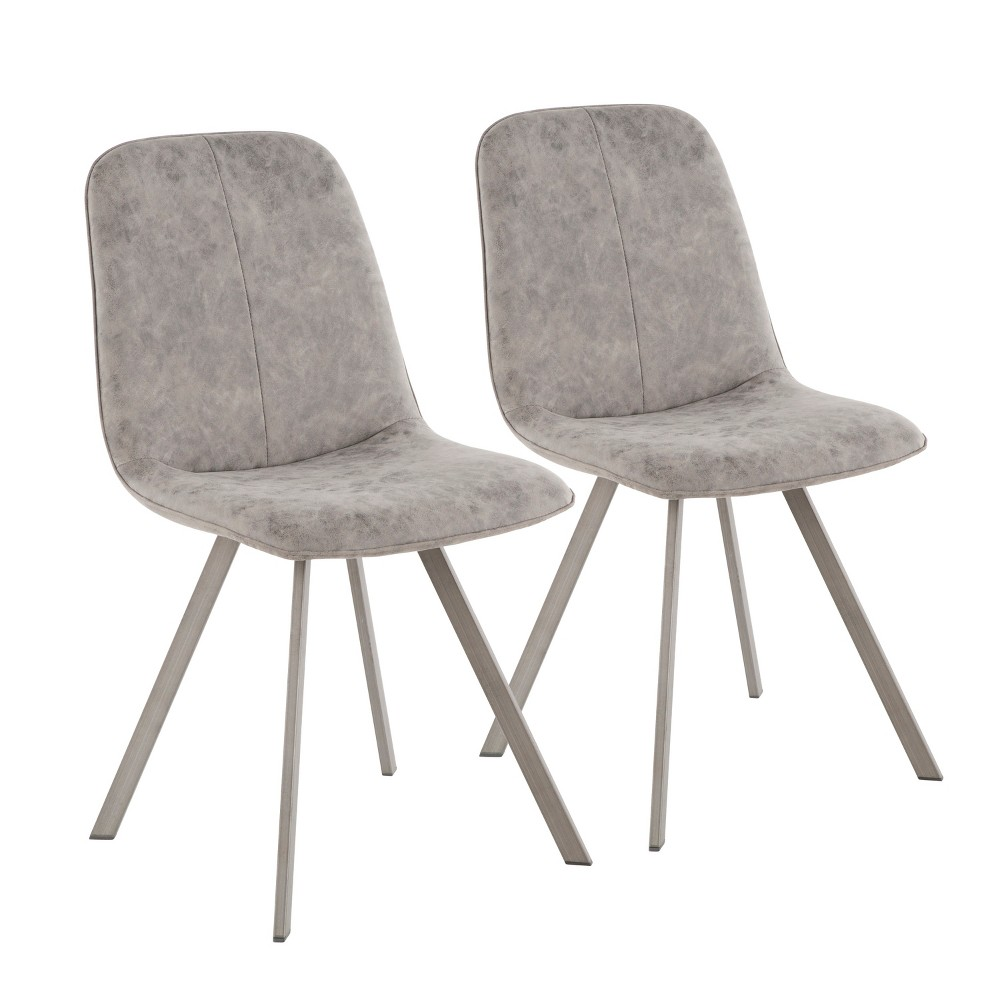 Set of 2 Sedona Industrial Dining Chair Vintage Gray - LumiSource