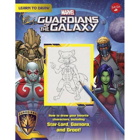 Learn to Draw Marvel Guardians of the Galaxy - (Learn to Draw Favorite Characters: Expanded Edition) - image 1 of 1