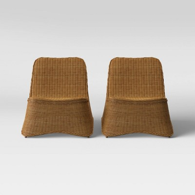 Wexler 2pk Wicker Stacking Patio Chair - Natural - Project 62™