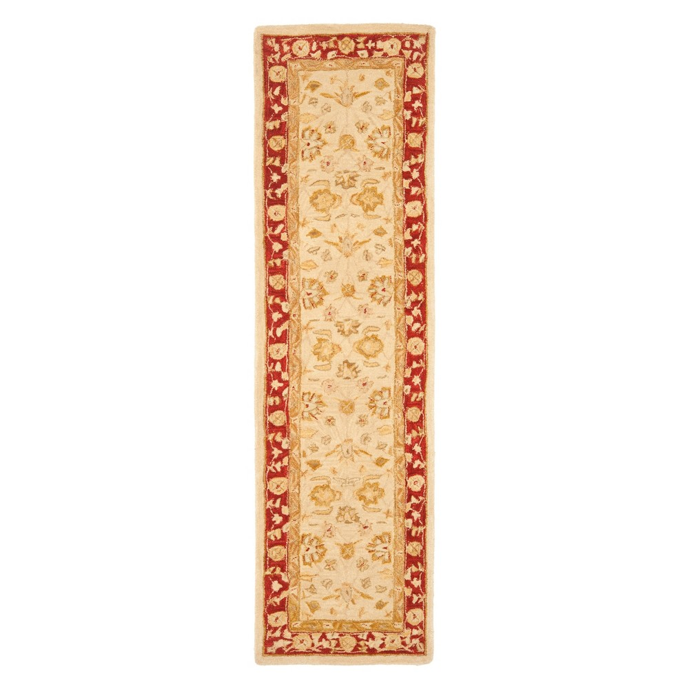 23X20 Floral Runner Ivory/Red - Safavieh Discounts