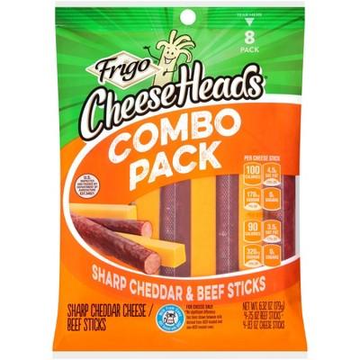 Frigo Snack Sharp Cheddar Cheese & Beef Sticks - 6.32oz