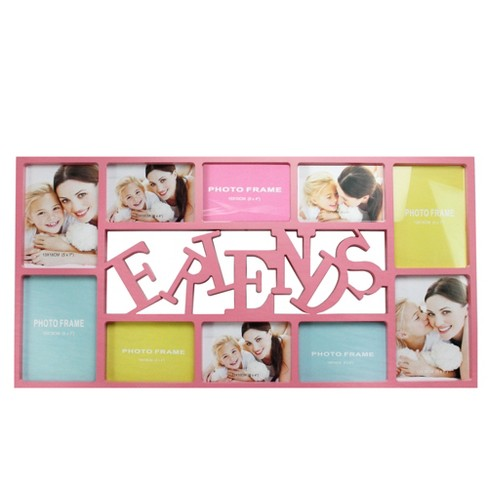 "Northlight 28.75"" Pink ""Friends"" Collage Photo Picture Frame Wall Decoration - image 1 of 2"