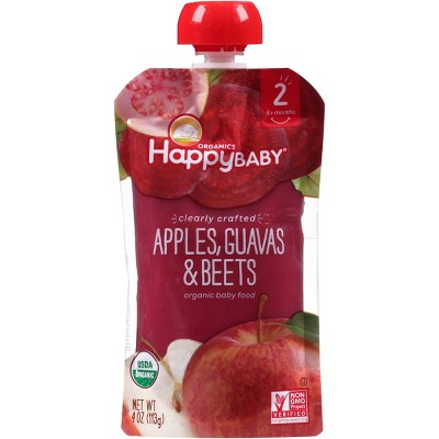 Happy Baby Clearly Crafted S2 Apple Guava Beet 4oz