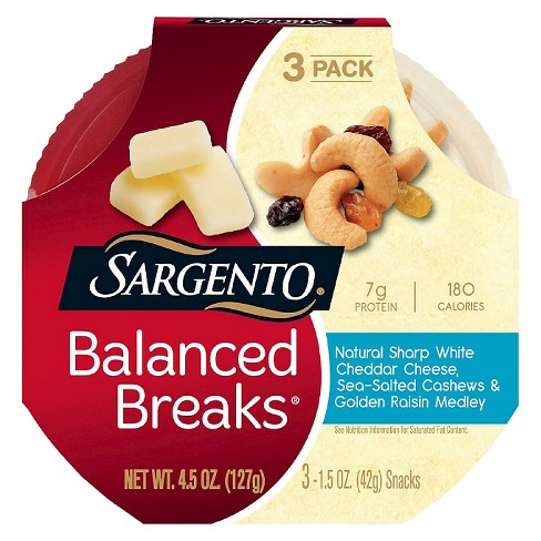 Sargento Balanced Breaks Natural Sharp White Cheddar Cheese - 4.5oz - image 1 of 1