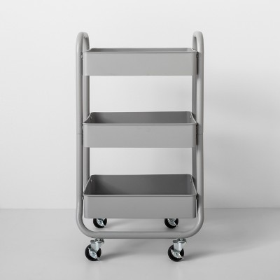 Three Tier Metal Utility Cart Gray - Made By Design™