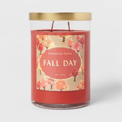 25.1oz Lidded Glass Jar 2-Wick Fall Day Candle - Opalhouse™