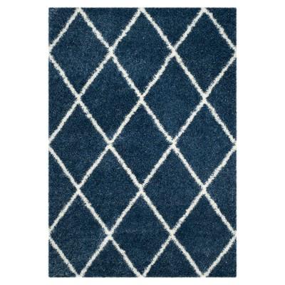 "Montreal Shag Rug - Blue/Ivory - (5'3""X7'6"")- Safavieh"
