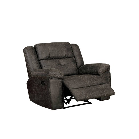 Herrick Tufted Recliner Chair Dark Brown - miBasics - image 1 of 4