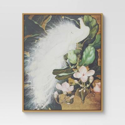 "16"" x 20"" Peacock Framed Wall Canvas White - Opalhouse™"