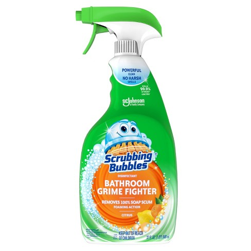 Scrubbing Bubbles Bathroom Grime Fighter Bathroom Cleaner Citrus Scent Spray - 32oz - image 1 of 4