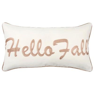 Throw Pillow Rizzy Home White Brown